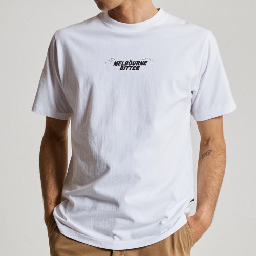 MR SIMPLE Melbourne Bitter Heavy Weight Pub Tee White