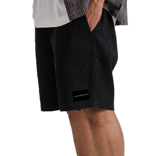 AFENDS Dendy 2.0 Hemp Elastic Waist Walkshorts Black