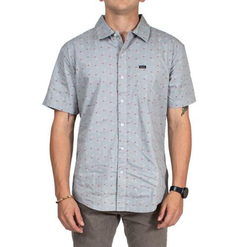 BRIXTON Charter Print Short Sleeve Shirt Haze