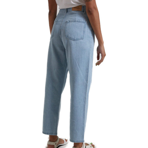 AFENDS Shelby Hemp Denim High Waist Jeans Stone Blue
