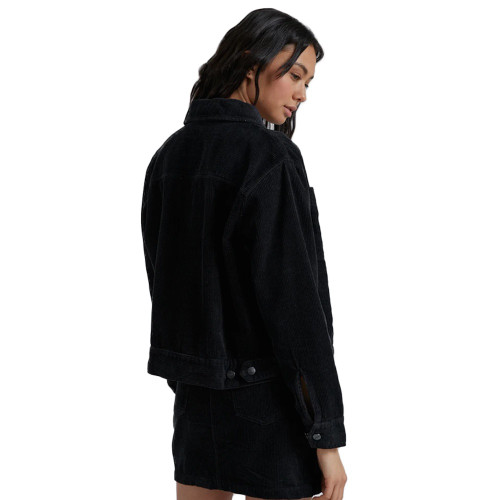 AFENDS Cara Hemp Corduroy Jacket Black