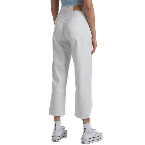 AFENDS Shelby Hemp Twill High Waist Wide Leg Pants Off White