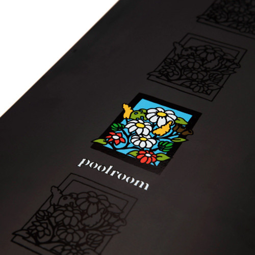 POOLROOM In Bloom Matte Gloss Black Skateboard Deck 8.25