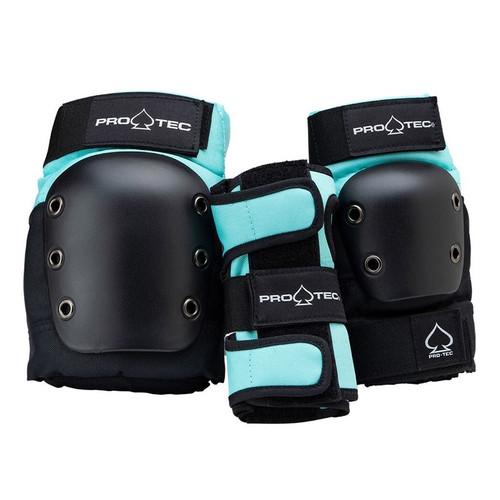 PRO TEC Street Gear Junior 3 Pack Black/Sky Blue (Sky Brown)