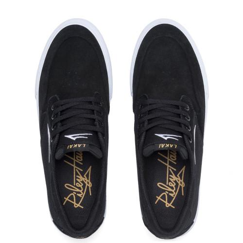 LAKAI Riley 3 Shoes Black Suede
