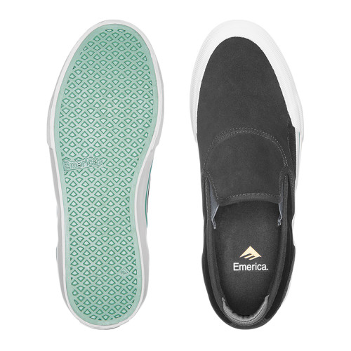EMERICA Wino G6 Slip-On Shoes Dark Grey/Black