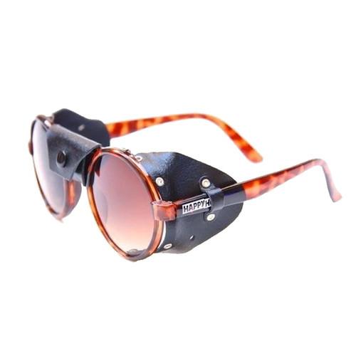 HAPPY HOUR Dusters Jon Dickson GLOSS Tortoise/Black Leather Sunglasses