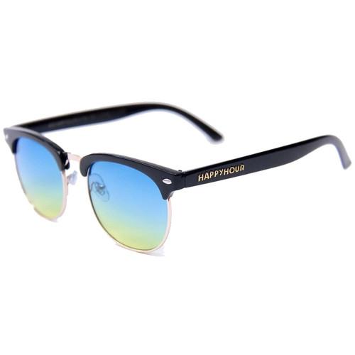 HAPPY HOUR G2 Black Gloss Ocean Fade Sunglasses