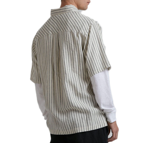 AFENDS High Street Hemp LS Shirt Cream