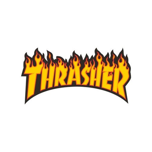 THRASHER Flame Logo Sticker Large 26cm