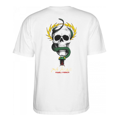 POWELL PERALTA McGill Skull And Snake Tee White