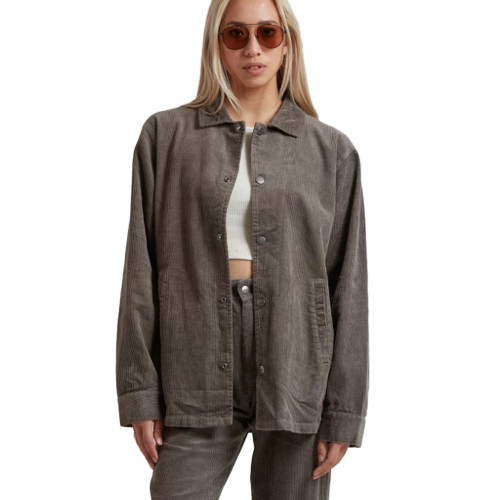 AFENDS Enjoy Unisex Hemp Corduroy Jacket Beechwood