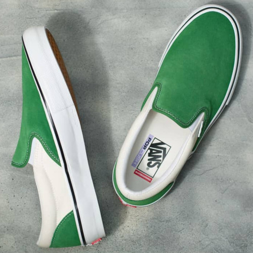 VANS Skate Slip-On Shoes Juniper/White