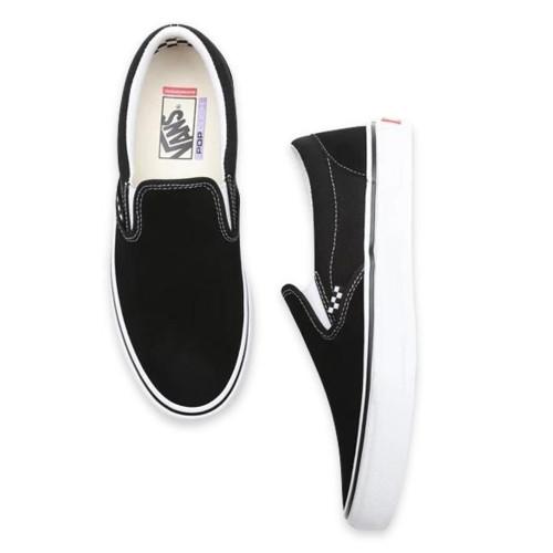 VANS Skate Slip-On Shoes Black/White