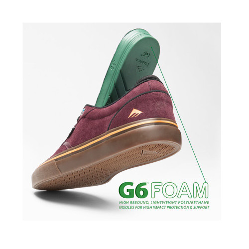EMERICA Dickson Shoes Burgundy/Gum