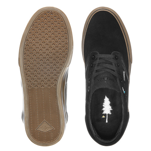EMERICA Dickson Shoes Black/Gum