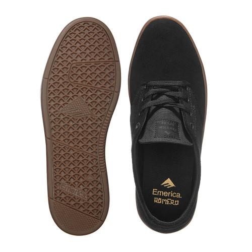 EMERICA The Romero Laced Shoes Black/Gum