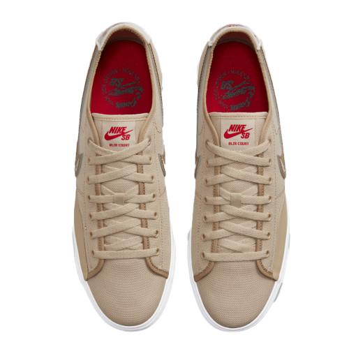 NIKE SB Blazer Court Daan Van Der Linden Shoes Grain/Parachute Beige