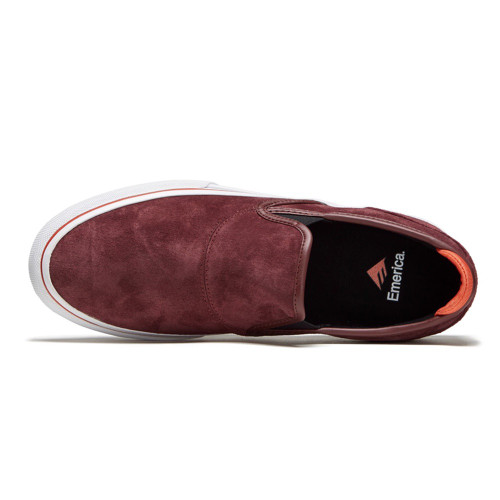 EMERICA Wino G6 Slip-On Shoes Burgundy