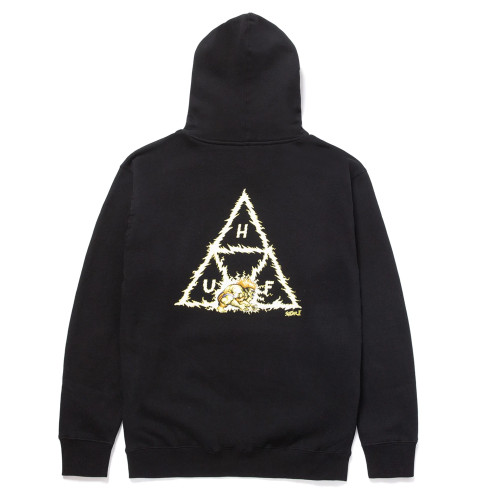 HUF x Blanka Triple Triangle Pullover Hoodie Black