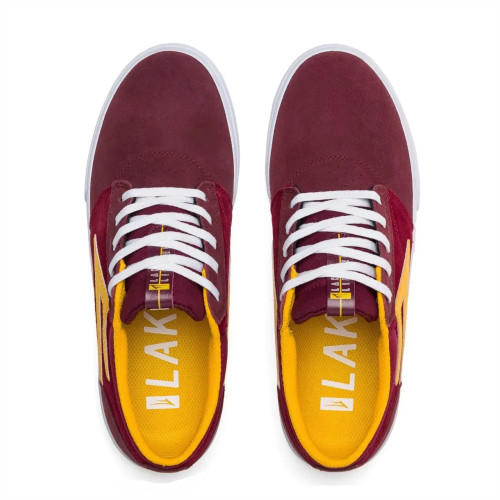 LAKAI Griffin Shoes Burgundy/Cardinal Suede