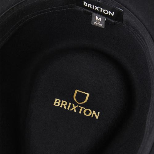 BRIXTON Messer Packable Fedora Black/Black