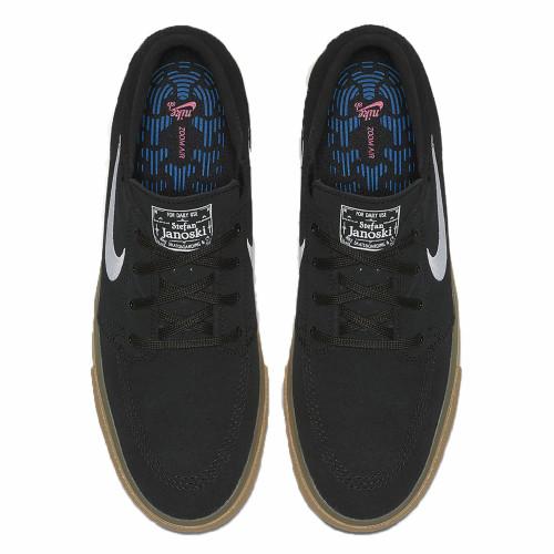 NIKE SB Zoom Stefan Janoski RM Shoes Black/Black/Gum Light Brown/White