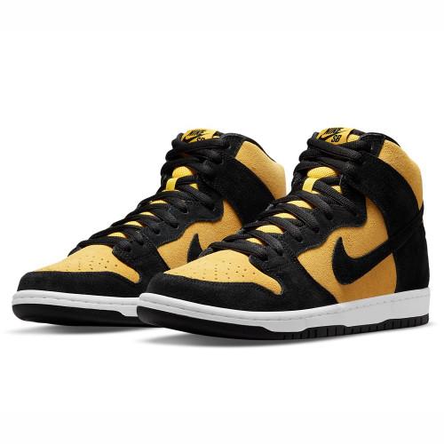 NIKE SB Dunk High Pro Shoes Black/Black Varsity Maize (Golden Rod)