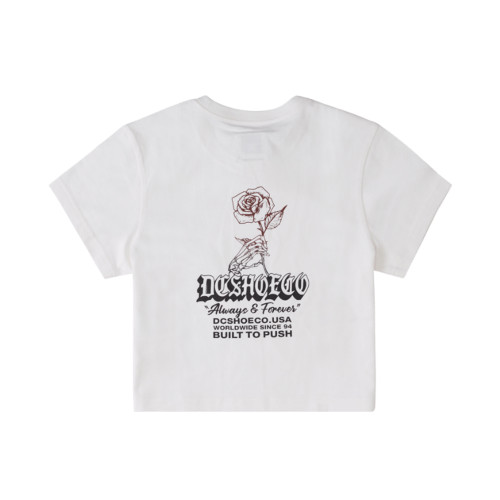 DC Always And Forever Womens Crop Tee White