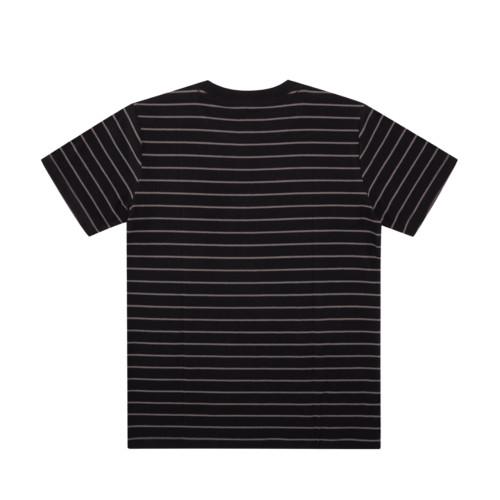 DC Dialled Stripe Youth Tee Black Stripe