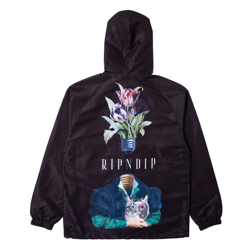 RIPNDIP Lights Out Nylon Coach Jacket Black