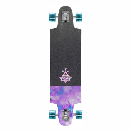 DUSTER Felix Chrome Holographic Complete Longboard 36