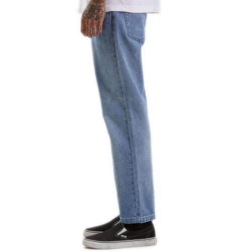 AFENDS Ninety Twos Hemp Denim Relaxed Jeans Worn Blue