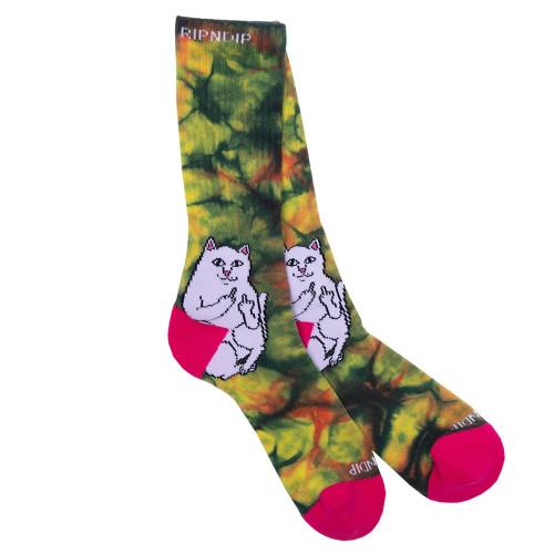 RIPNDIP Lord Nermal Sunburst Socks Tie Dye