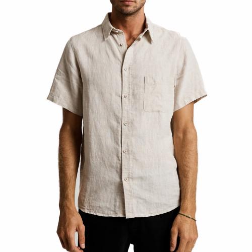MR SIMPLE Linen Shirt SS Natural