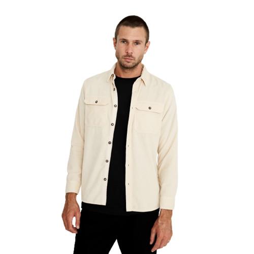MR SIMPLE Corduroy LS Shirt Natural