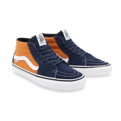 VANS Skate Grosso Mid Skool Shoes Navy/Orange