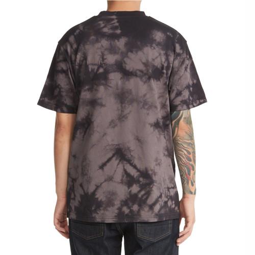 DC Blabac Josh Kalis Lovepark Tee Black/Castlerock Blotchy Dye