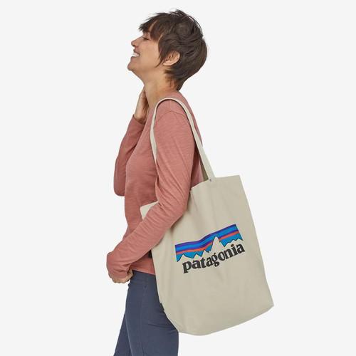 PATAGONIA Market Tote Bag P6 Logo Bleached Stone