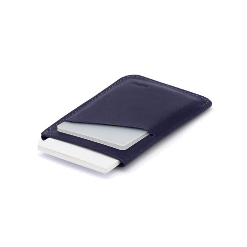 BELLROY Card Sleeve Leather Wallet Navy