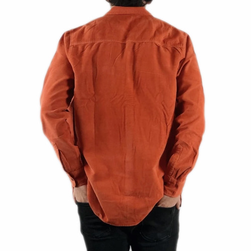 LAZY SUNDAE Acoustic Button Up LS Shirt Rust