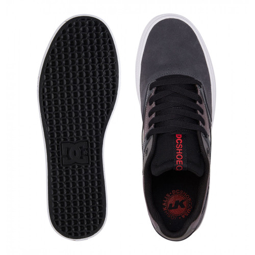 DC Kalis Vulc Shoes Grey/Black/Red