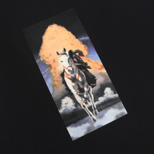 Fucking Awesome Devil On Horseback Tee Black