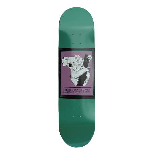 TRILOGY Drop Bear Koala Green Skateboard Deck 7.75