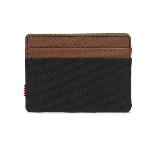 HERSCHEL Charlie RFID Wallet Black/Saddle Brown