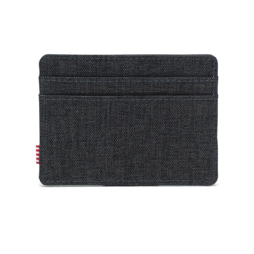 HERSCHEL Charlie Wallet RFID Black Crosshatch