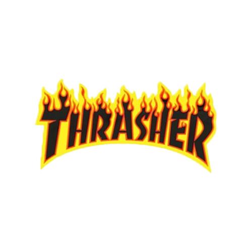 THRASHER Flame Logo Sticker Med 15cm
