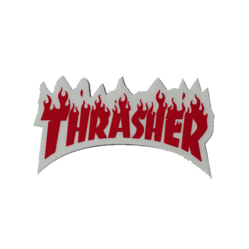 THRASHER Flame Logo Sticker Small 8cm