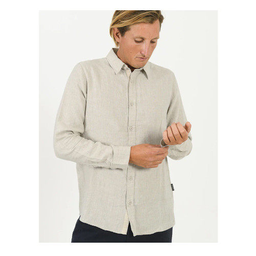 MR SIMPLE Linen Shirt Natural