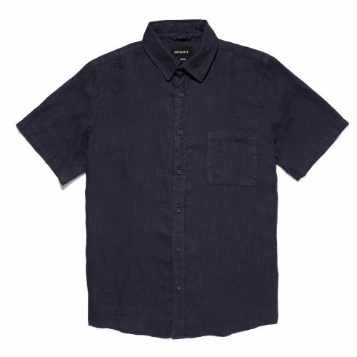 MR SIMPLE Linen SS Shirt Navy